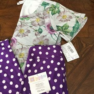 BNWT LuLaRoe OUTFIT L Classic T & OS Leggings